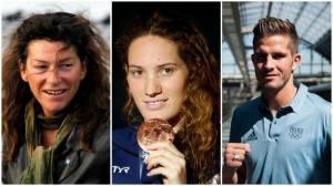 La navigatrice Florence Arthaud (57 ans) la nageuse Camille Muffat (25 ans) le boxeur Alexis Vastine (28 ans)