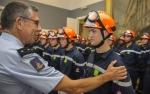 Les jeunes sapeurs-pompiers de Paris reçoivent leur brevet