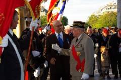 General J Combette et Capitaine P Gonzalez